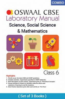 Oswaal CBSE Laboratory Manual For Class - VI Science, Social Science & Mathematics For 2019 Exam