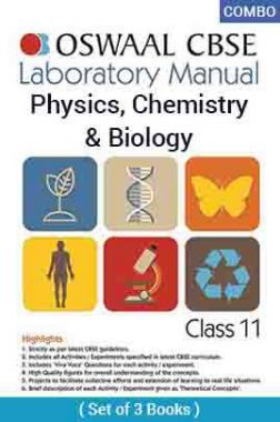 Oswaal CBSE Laboratory Manual For Class - XI Physics, Chemistry & Biology For 2019 Exam