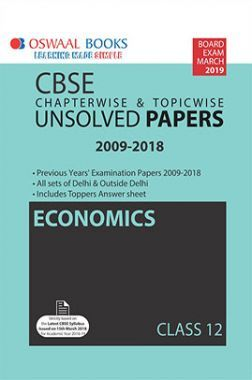 Oswaal CBSE Chapterwise & Topicwise Unsolved Papers Class - XII Economics For 2019 Exam