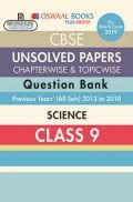 Oswaal CBSE Chapterwise & Topicwise Unsolved Papers Question Bank Class - IX Science For 2019 Exam