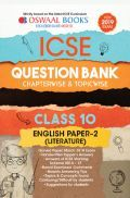 Oswaal ICSE Question Bank Chapterwise & Topicwise Class - X English Literature Paper 2 For 2019 Exam