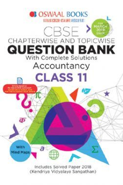 Oswaal CBSE Question Bank Chapterwise & Topicwise Class - XI Accountancy For 2019 Exam