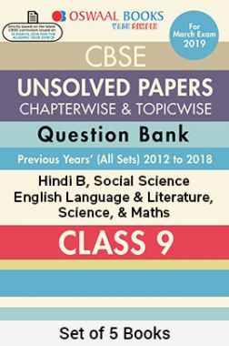 Oswaal CBSE Chapterwise & Topicwise Unsolved Papers Question Bank Class - IX (Set Of 5 Books) Hindi B, English Language and Literature, Science, Social Science & Maths For 2019 Exam