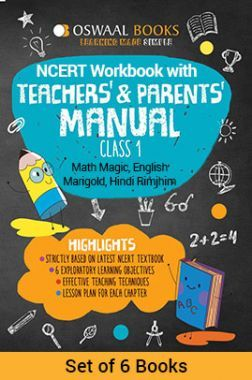 Oswaal NCERT Workbook With Teachers & Parents Manual Class - I (Set of 6 Books) Math Magic, English Marigold, Hindi Rimjhim For 2019 Exam