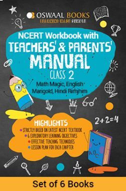 Oswaal NCERT Workbook With Teachers & Parents Manual Class - II (Set of 6 Books) Math Magic, English Marigold, Hindi Rimjhim For 2019 Exam