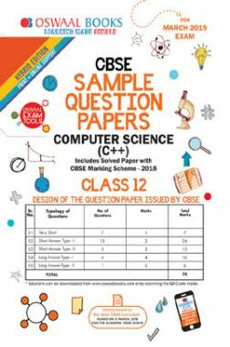 Download Oswaal CBSE Sample Question Papers For Class XII Computer Science  C++ (Mar  2019 Exam) by Panel Of Experts PDF Online