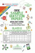 Oswaal CBSE Sample Question Papers For Class XI English Core (Mar. 2019 Exam)