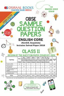 Download Oswaal CBSE Sample Question Papers For Class XI English Core (Mar   2019 Exam) by Panel Of Experts PDF Online