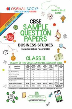 Download Oswaal CBSE Sample Question Papers For Class XI Business Studies  (Mar  2019 Exam) by Panel Of Experts PDF Online
