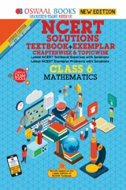 Oswaal NCERT (Solutions Textbook + Exemplar) For Class VI Mathematics (Mar. 2019 Exam)