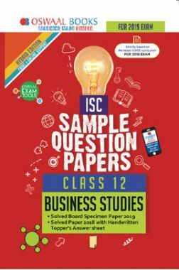 Oswaal ISC Sample Question Papers For Class XII Business Studies (Mar. 2019 Exam)