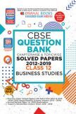Oswaal CBSE Question Bank Chapterwise & Topicwise Solved Papers For Class - XII Business Studies ( For March 2020 Exam )
