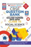 Oswaal CBSE Question Bank Chapterwise & Topicwise Solved Papers For Class - X Social Science ( For March 2020 Exam )