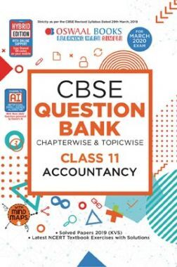 Oswaal CBSE Question Bank Chapterwise & Topicwise Solved Papers For Class - XI Accountancy ( For March 2020 Exam )