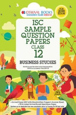 Oswaal ISC Sample Question Papers For Class - XII Business Studies (For 2020 Exam)