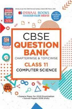 Oswaal CBSE Question Bank Chapterwise & Topicwise For Class - XI Computer Science (For March 2020 Exam)
