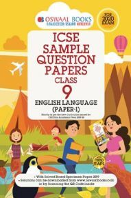 Oswaal ICSE Sample Question Papers For Class - IX English Paper 1 Language (For March 2020 Exam)