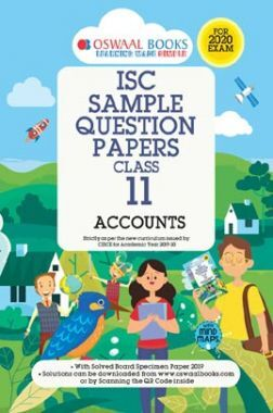 Oswaal ISC Sample Question Papers For Class - XI Accounts (For 2020 Exam)