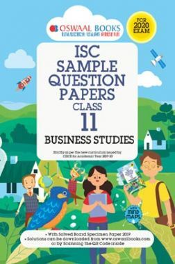 Oswaal ISC Sample Question Paper Class XI Business Studies (For 2020 Exam)