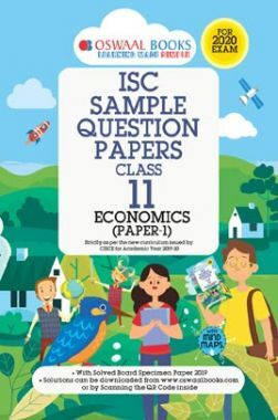 Oswaal ISC Sample Question Paper Class XI Economics (For 2020 Exam)