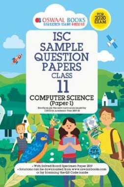 Oswaal ISC Sample Question Paper Class XI Computer Science (For 2020 Exam)