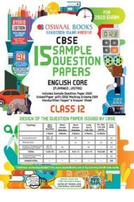 Oswaal CBSE Sample Question Paper Class XII English Core (For 2020 Exam)