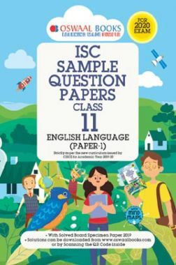 Oswaal ISC Sample Question Papers Class XI English Language Papers - I (For 2020 Exam)