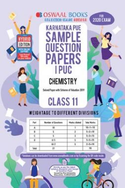 Oswaal Karnataka PUE Sample Question Papers For PUC I Chemistry (For March 2020 Exam)