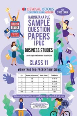 Oswaal Karnataka PUE Sample Question Papers For PUC I Business Studies (For March 2020 Exam)