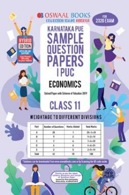 Oswaal Karnataka PUE Sample Question Papers For PUC I Economics (For March 2020 Exam)