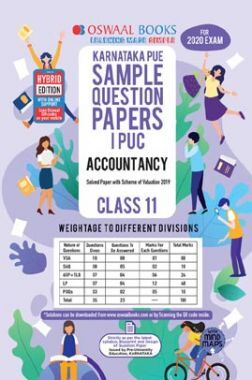 Oswaal Karnataka PUE Sample Question Papers For PUC I Accountancy (For March 2020 Exam)