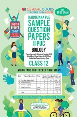 Oswaal Karnataka PUE Sample Question Papers For PUC II Biology (For March 2020 Exam)