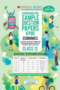 Oswaal Karnataka PUE Sample Question Papers For PUC II Economics (For March 2020 Exam)
