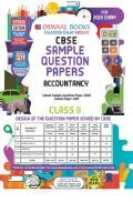 Oswaal CBSE Sample Question Paper For Class XI Accountancy (For March 2020 Exam)