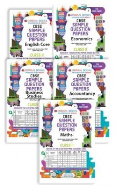 Oswaal CBSE Sample Question Papers - Class 11 - English Core, Economics, Business Studies, Accountancy & Maths - (Set of 5 Books) For 2020 Exam