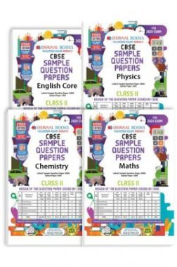 Oswaal CBSE Sample Question Papers - Class 11 - English Core, Physics, Chemistry & Maths - (Set of 4 Books) For 2020 Exam