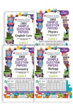Oswaal CBSE Sample Question Papers - Class 11 - English Core, Physics, Chemistry & Biology - (Set of 4 Books) For 2020 Exam