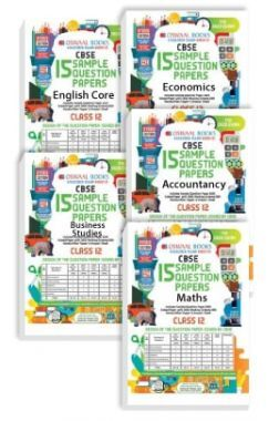 Oswaal CBSE Sample Question Papers - Class 12 - English Core, Economics, Business Studies, Accountancy & Maths - (Set of 5 Books)