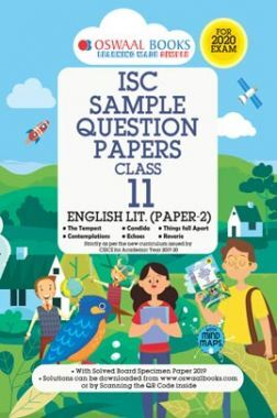 Oswaal ISC Sample Question Paper For Class XI English Paper 2 Literature (For 2020 Exam)
