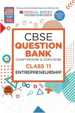 Oswaal CBSE Question Bank Chapterwise & Topicwise For Class XI Entrepreneurship (For March 2020 Exam)