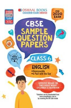Oswaal CBSE Sample Question Papers For Class VI English (For March 2020 Exam)