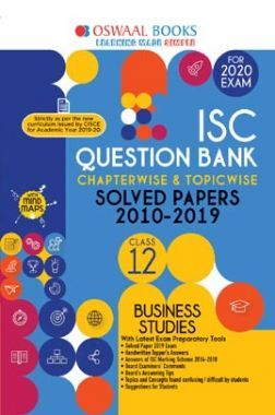 Oswaal ISC Question Bank Chapterwise & Topicwise Solved Papers For Class XII Business Studies (For March 2020 Exam)