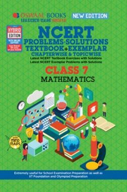 Oswaal NCERT Problems - Solutions (Textbook + Exemplar) For Class VII Mathematics (For March 2020 Exam)