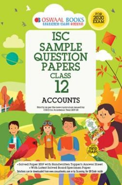 Oswaal ISC Sample Question Papers 9 For Class XII Accounts (March 2020 Exams)