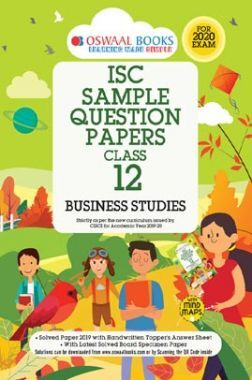 Oswaal ISC Sample Question Papers 3 For Class XII Business Studies (March 2020 Exams)