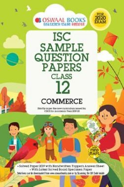 Oswaal ISC Sample Question Papers 3 For Class XII Commerce (March 2020 Exams)