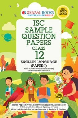 Oswaal ISC Sample Question Papers 3 For Class XII English-1 (Language) (March 2020 Exams)