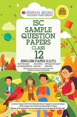 Oswaal ISC Sample Question Papers 9 For Class XII English-2 (Literature) (March 2020 Exams)