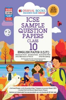 Oswaal ICSE Sample Question Papers 3 For CLass X English Paper - 2 (Literature) (March 2020 Exams)