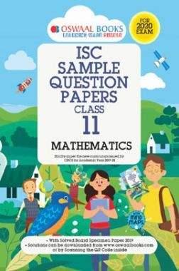Oswaal ISC Sample Question Papers 1 For Class XI Mathematics (March 2020 Exams)